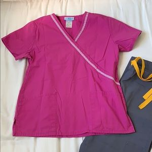 Tops - Pink scrub top